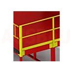 12. Barandilla en el 1er lado G (OPT-HRL). Para la mayor seguridad de los peatones que trabajan en la plataforma. Altura es de 1000 mm.