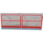 5. Barandilla en 1 lados de L (OPT-HRL). Los pasamanos de 1000 mm de altura proporcionan un paso seguro para los peatones y se instalan en lugar de las barreras básicas (250 mm de altura).