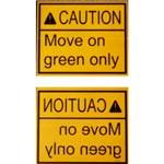 7. Conjunto de placas de información – notifica las instrucciones importantes al conductor. Todas las placas están imprimidas de modo estándar y de reflexión especular (bien legible a través del espejo retrovisor). Disponible en inglés, alemán, polaco, ruso, ucraniano y otros idiomas a pedido (se pueden aplicar cargos adicionales).